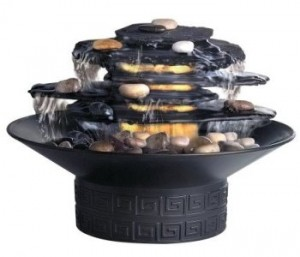 Homedics Envirascape Illuminated Rock Garden Relaxation Fountain